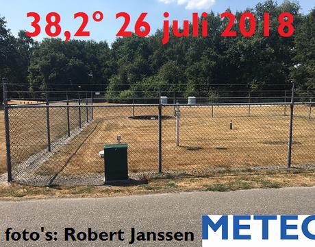 De twee warmste dagen van dit jaar op het KNMI-weerstation Arcen